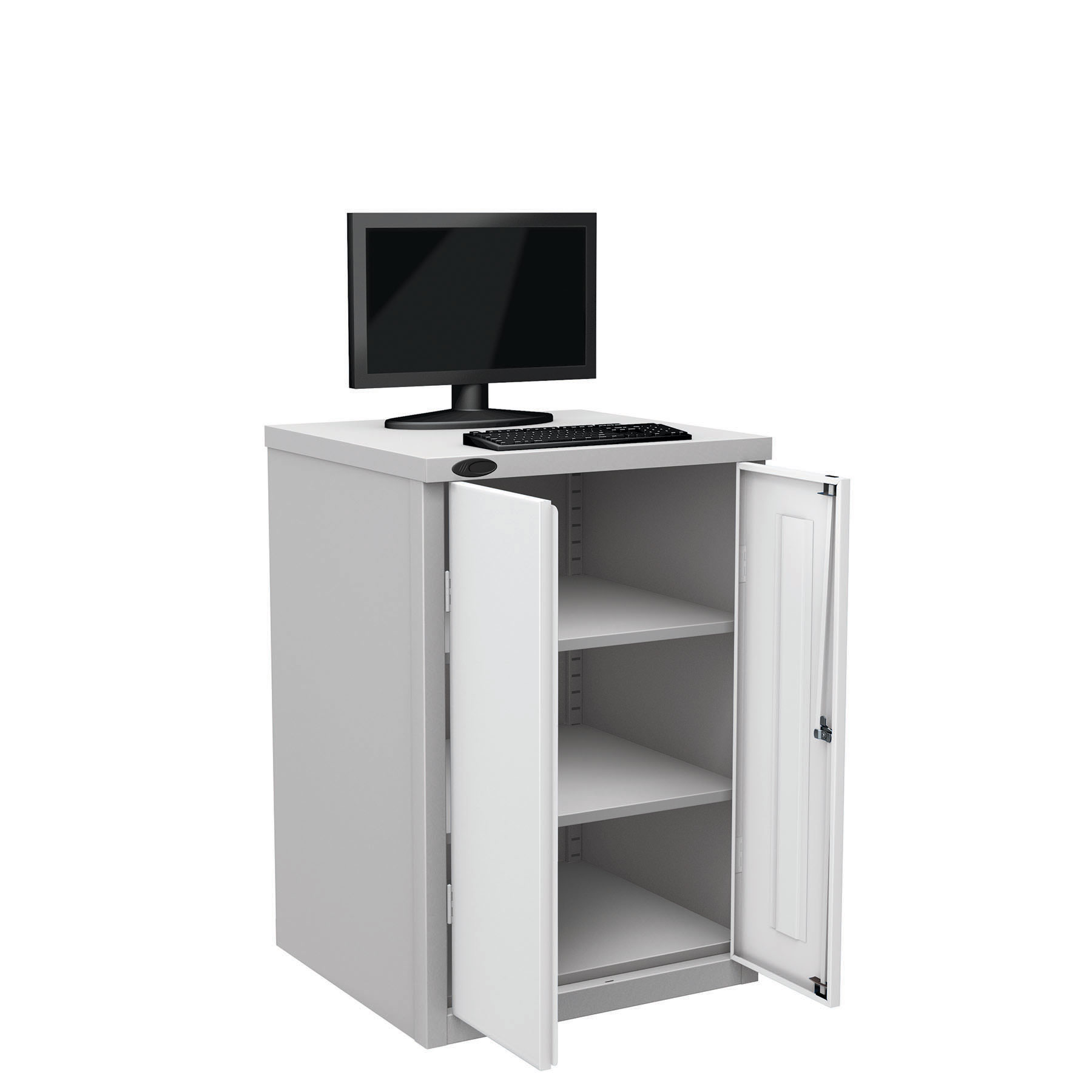 Probe workstation base monitor white