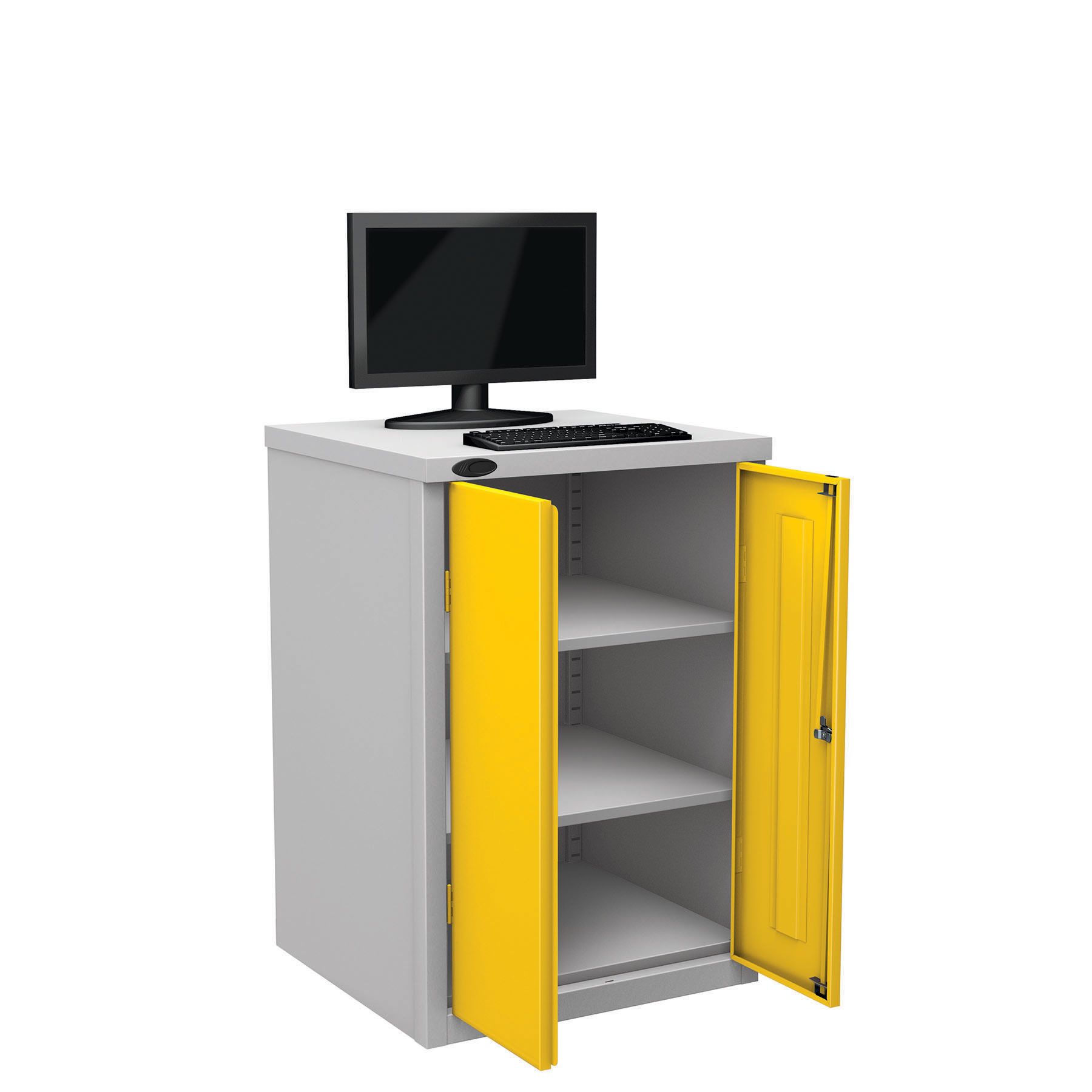 Probe workstation base monitor yellow