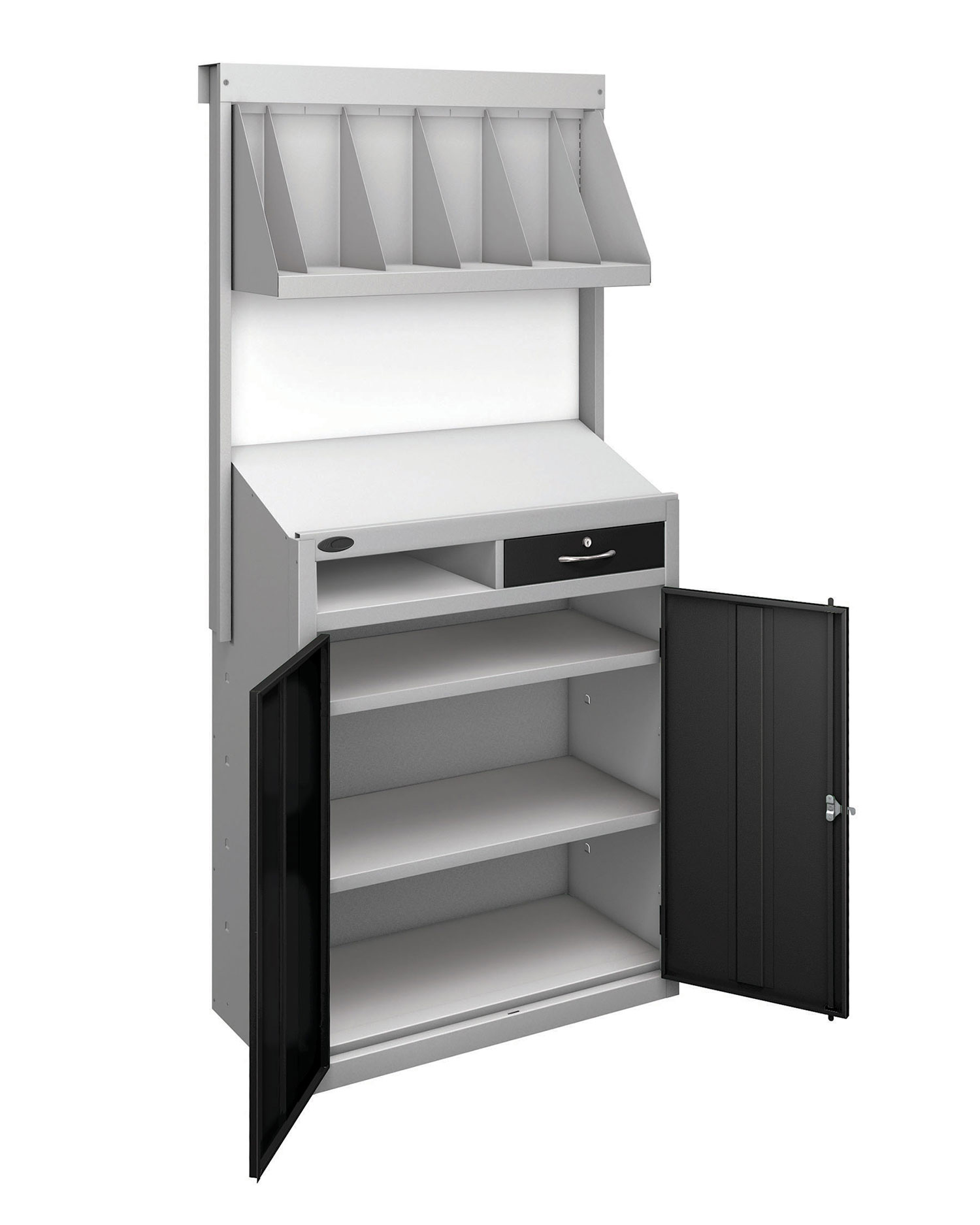 Probe workstation bookshelf black