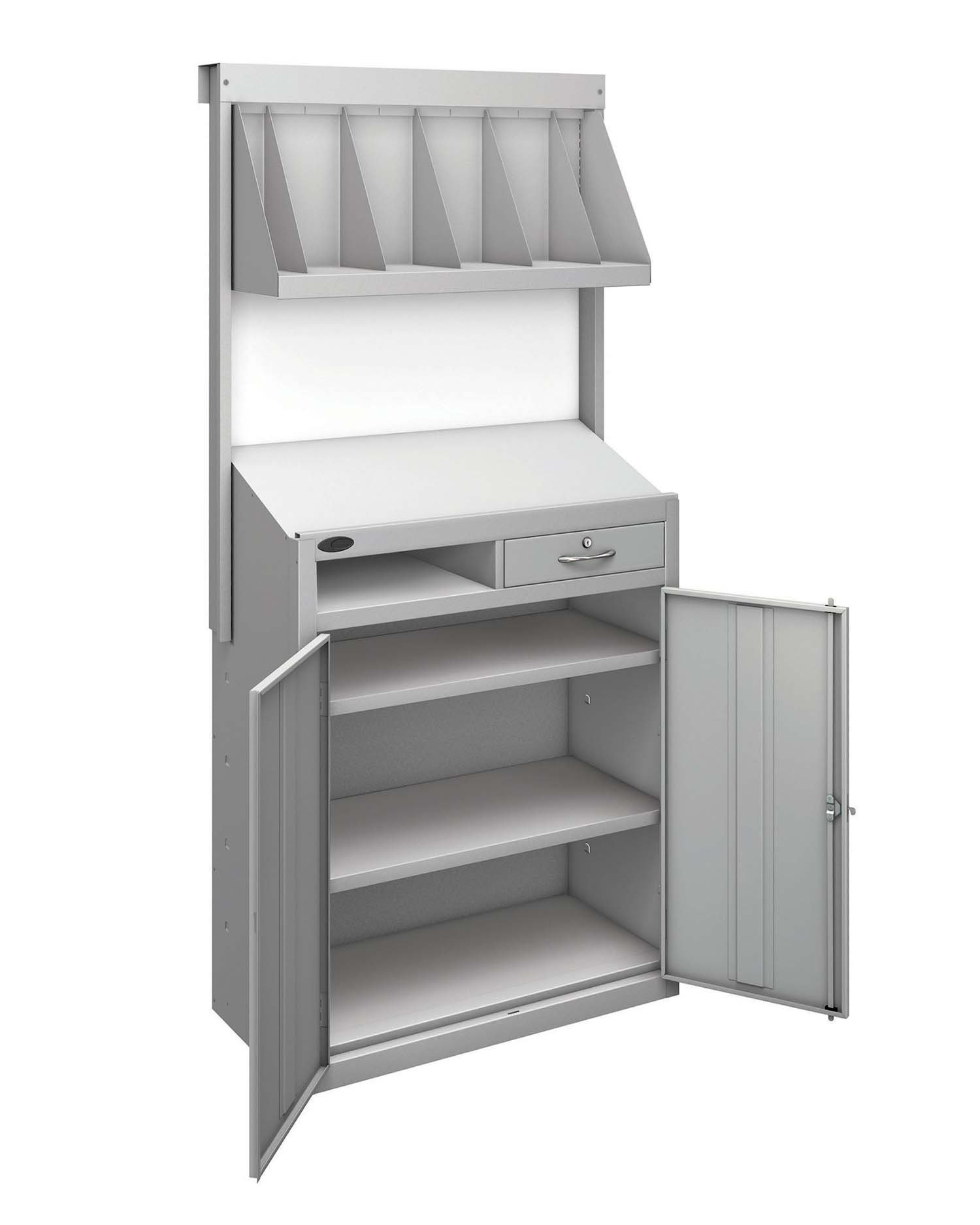 Probe workstation bookshelf silver