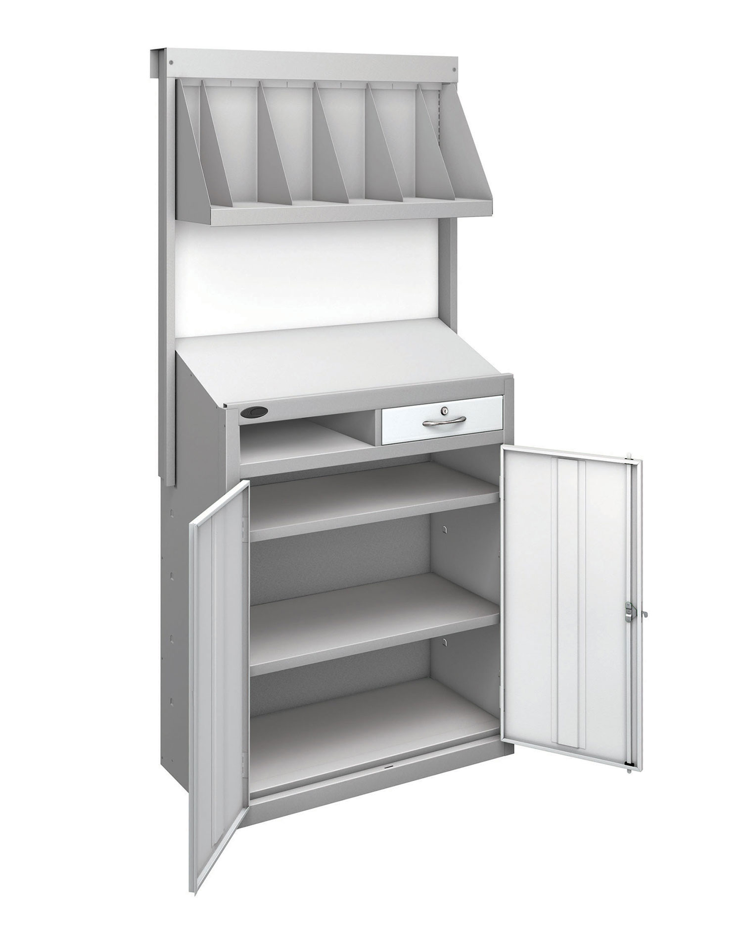 Probe workstation bookshelf white