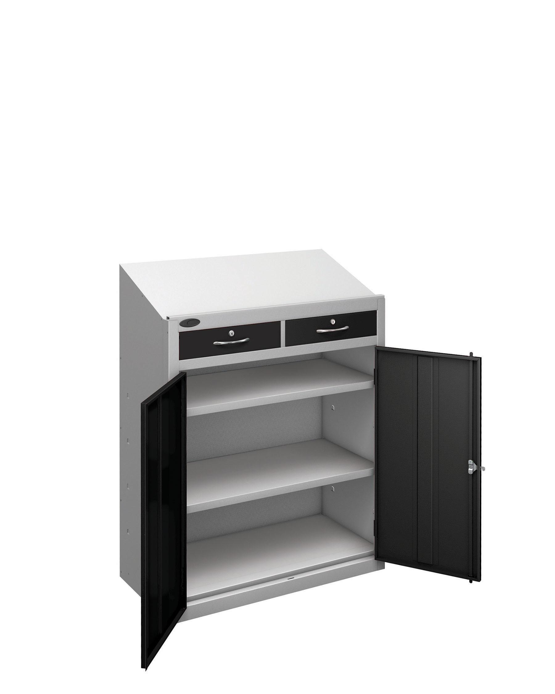Probe workstation slope drawer black