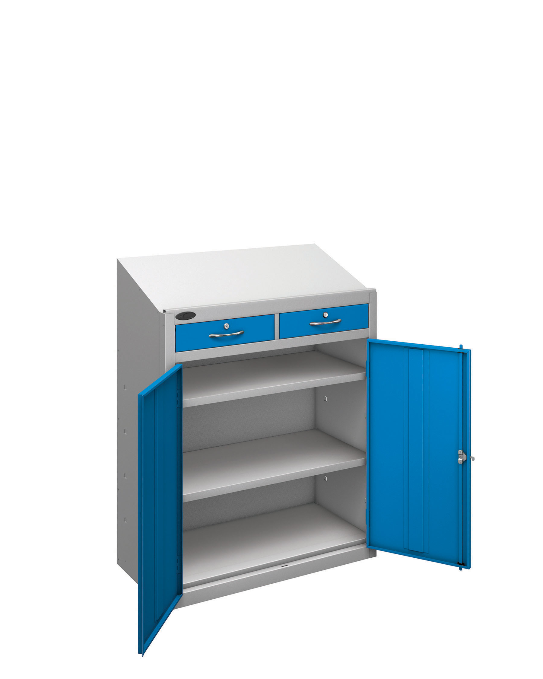 Probe workstation slope drawer blue