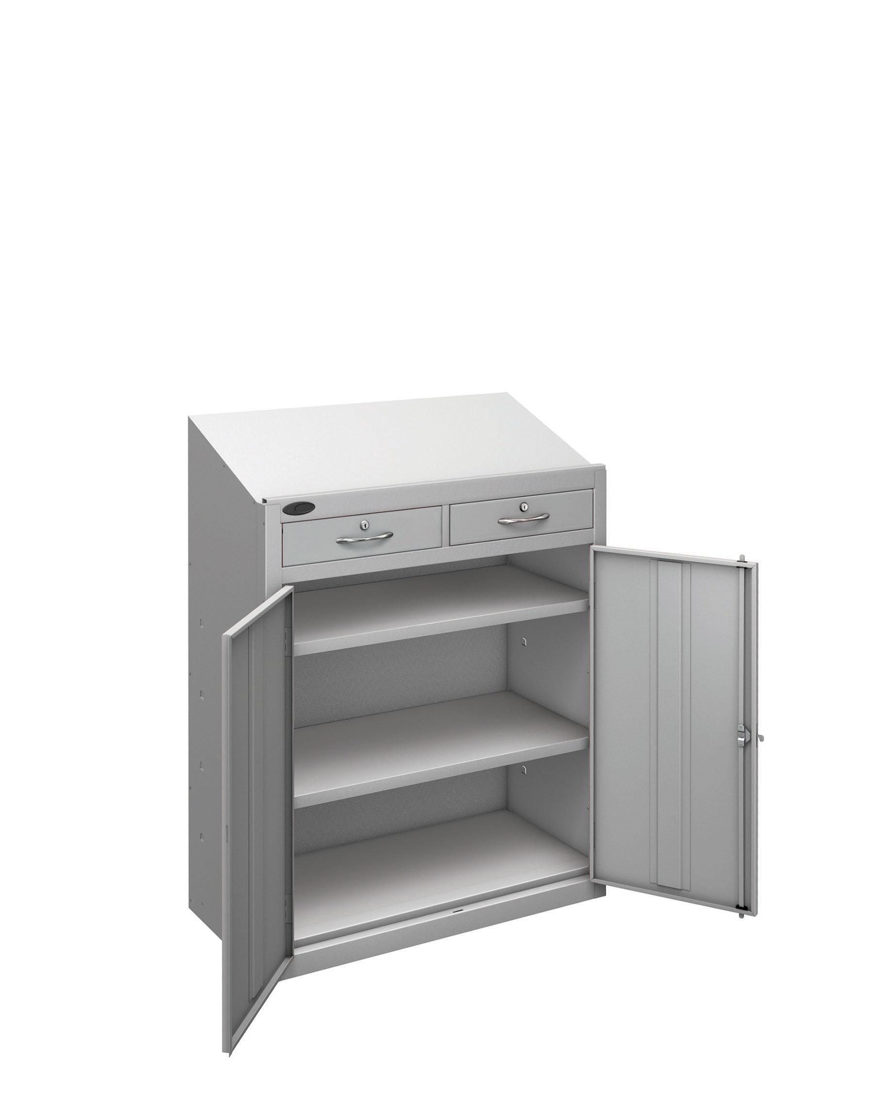 Probe workstation slope drawer silver