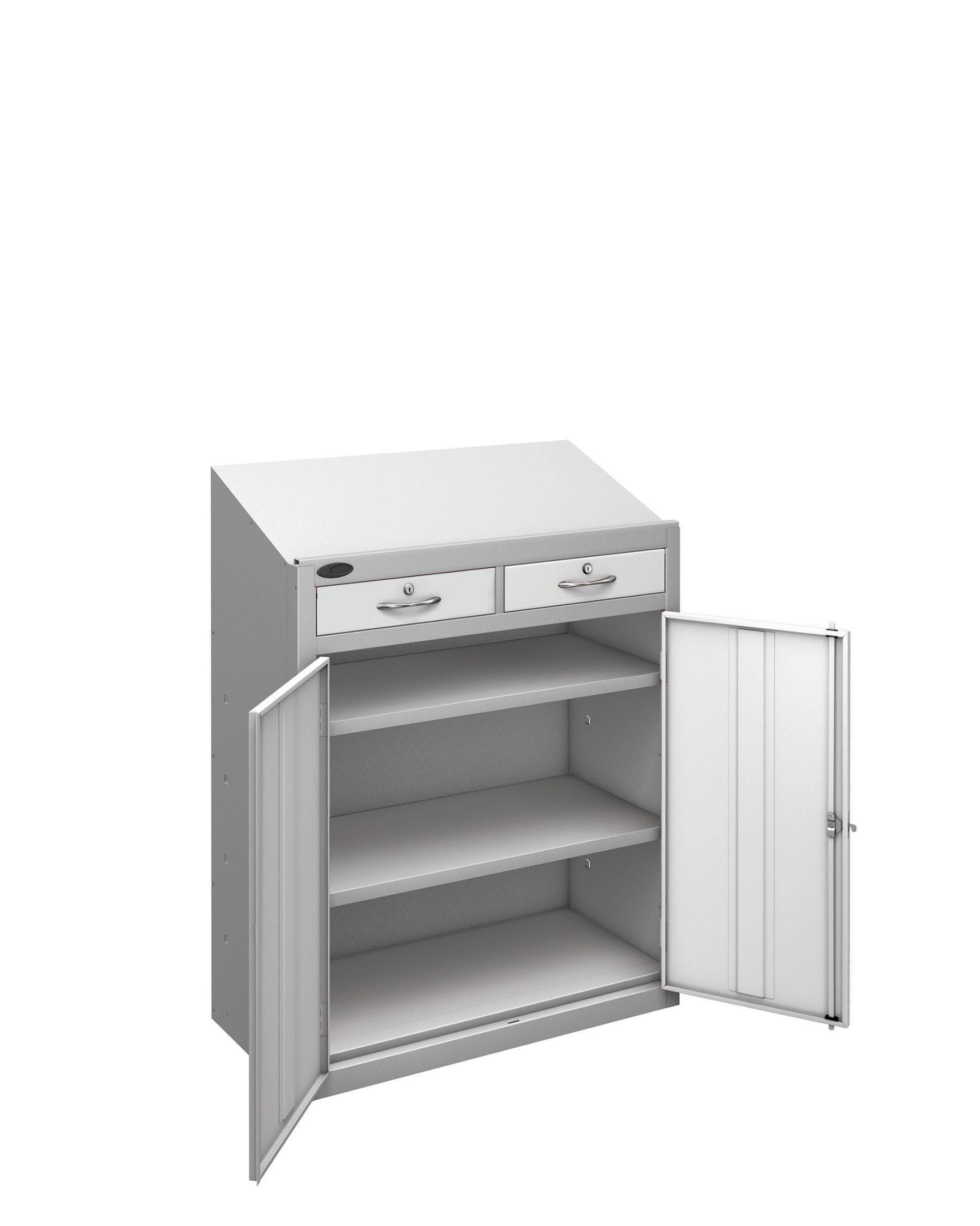 Probe workstation slope drawer white