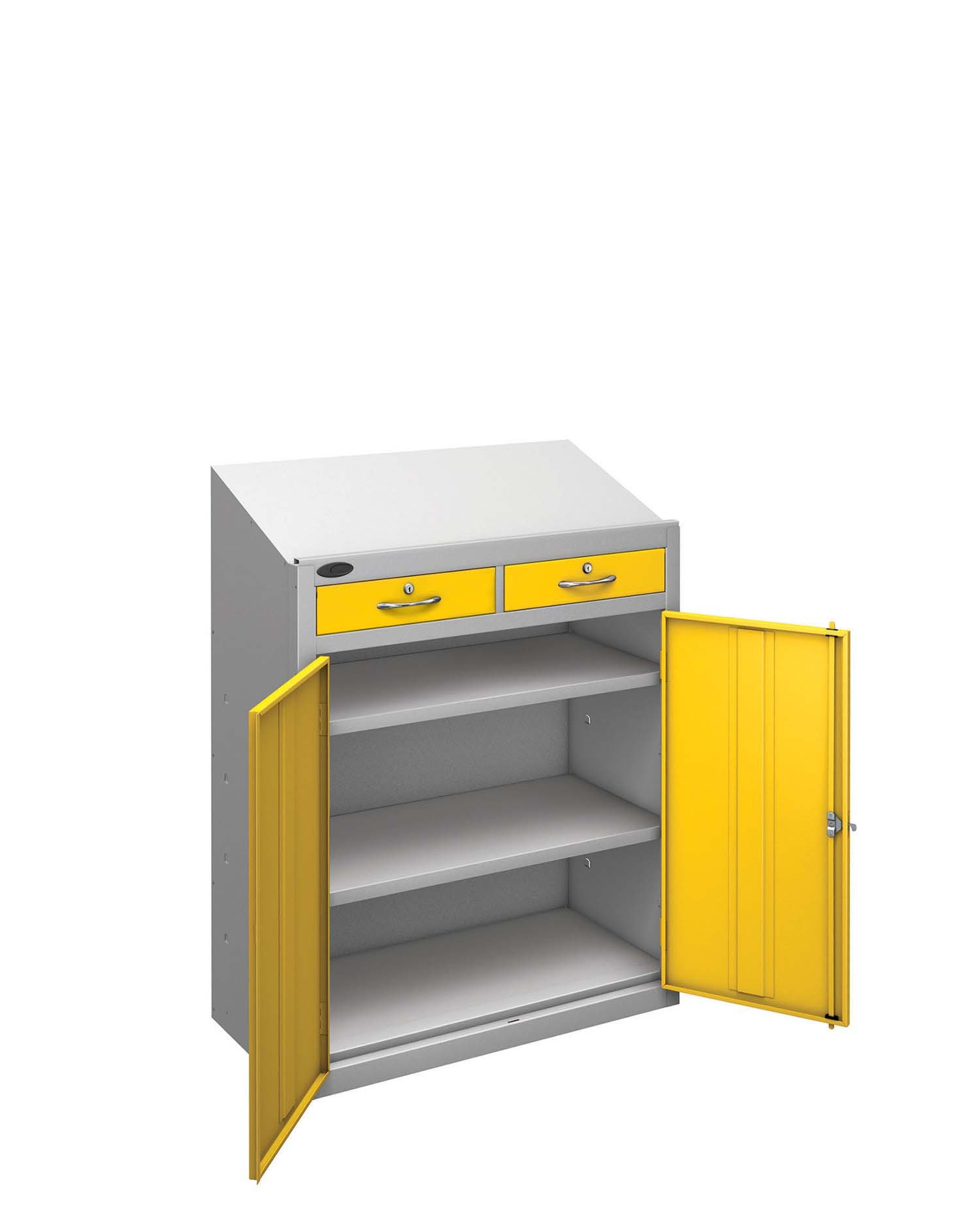 Probe workstation slope drawer yellow