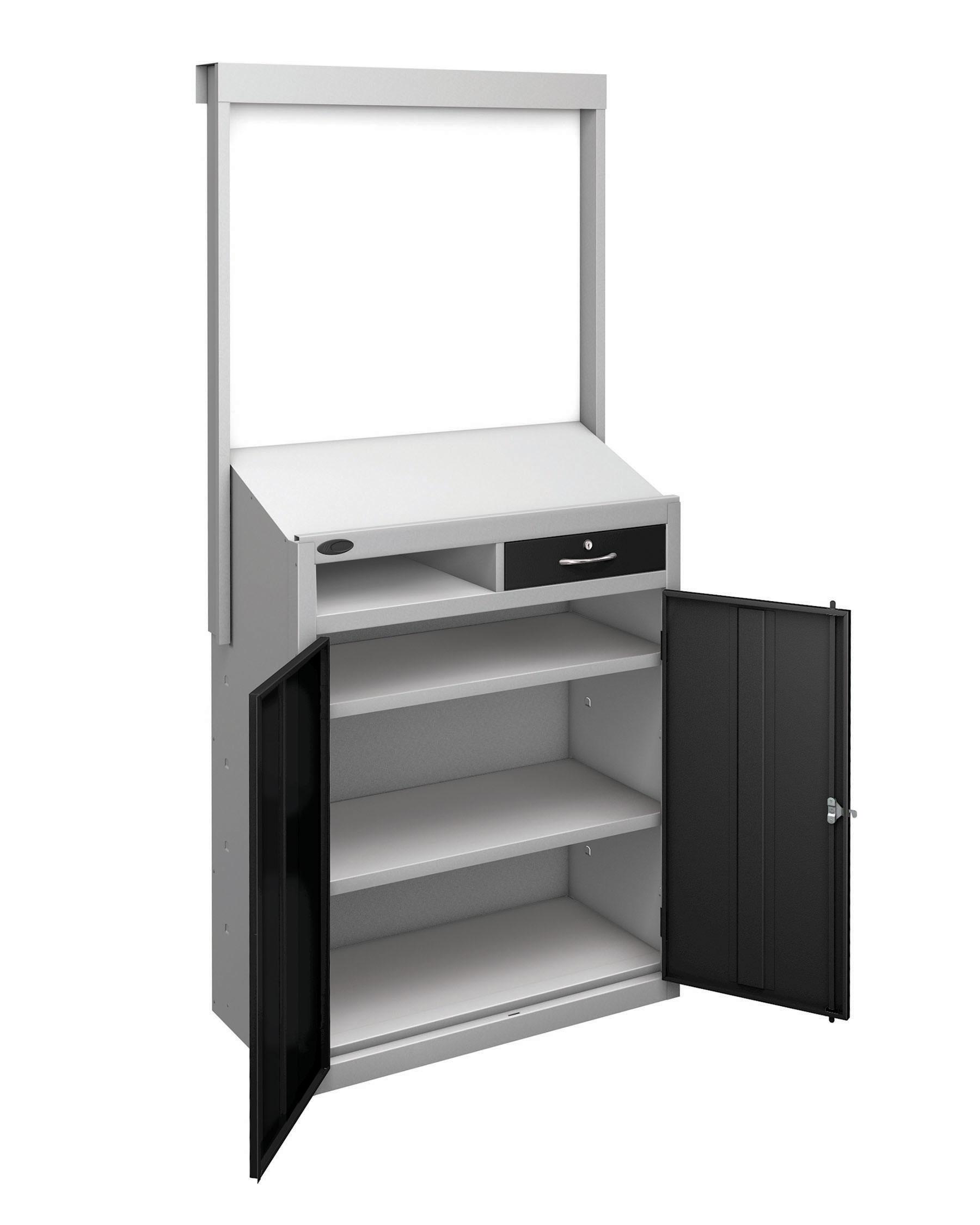 Probe workstation slope whiteboard black