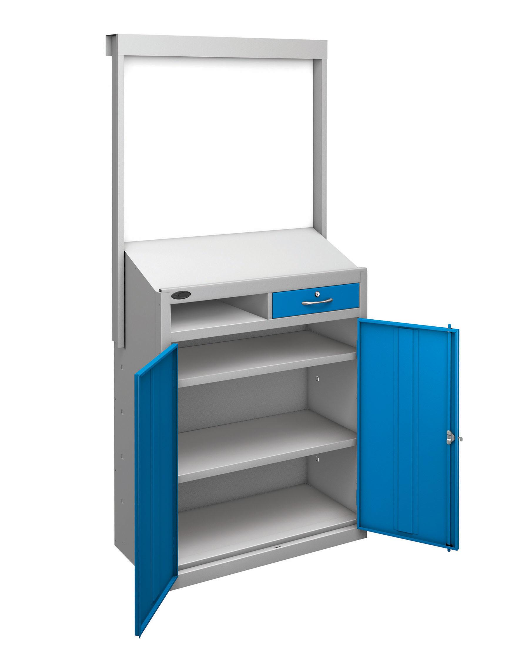 Probe workstation slope whiteboard blue