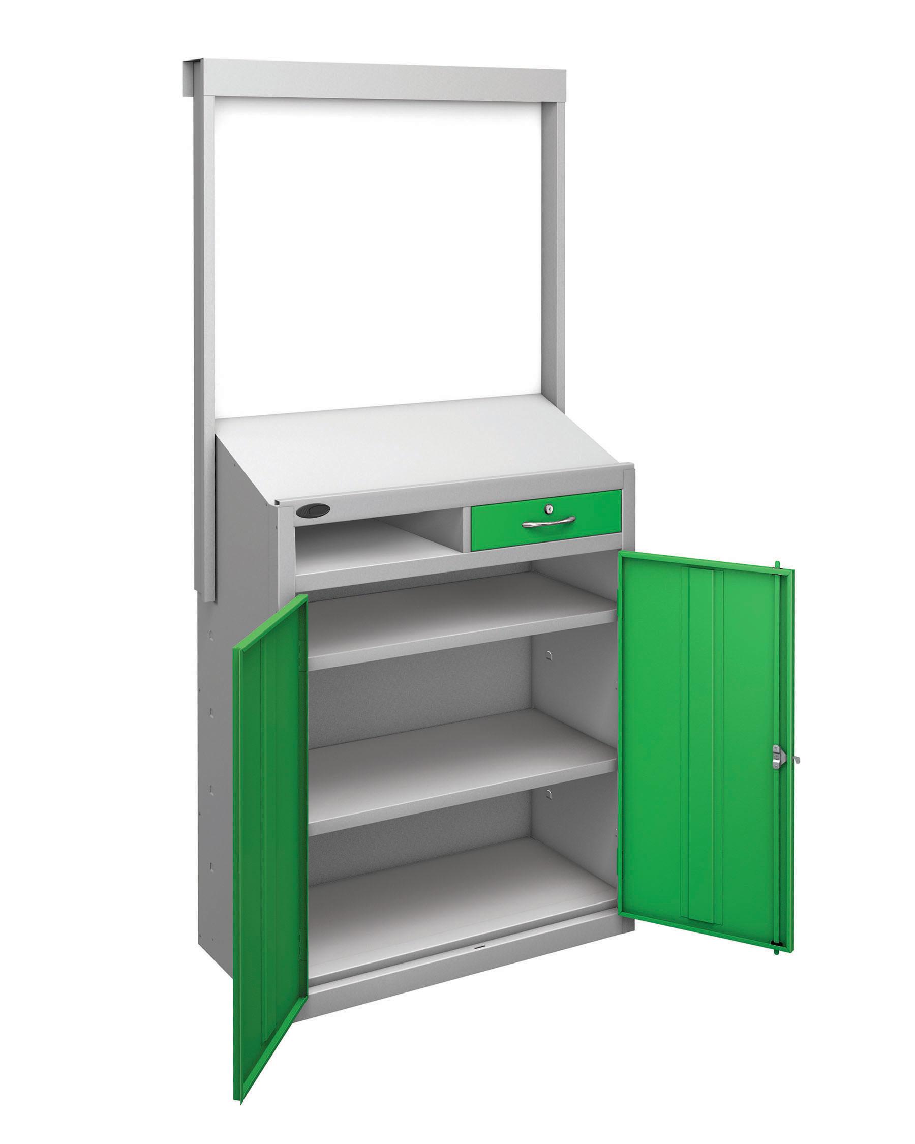 Probe workstation slope whiteboard green