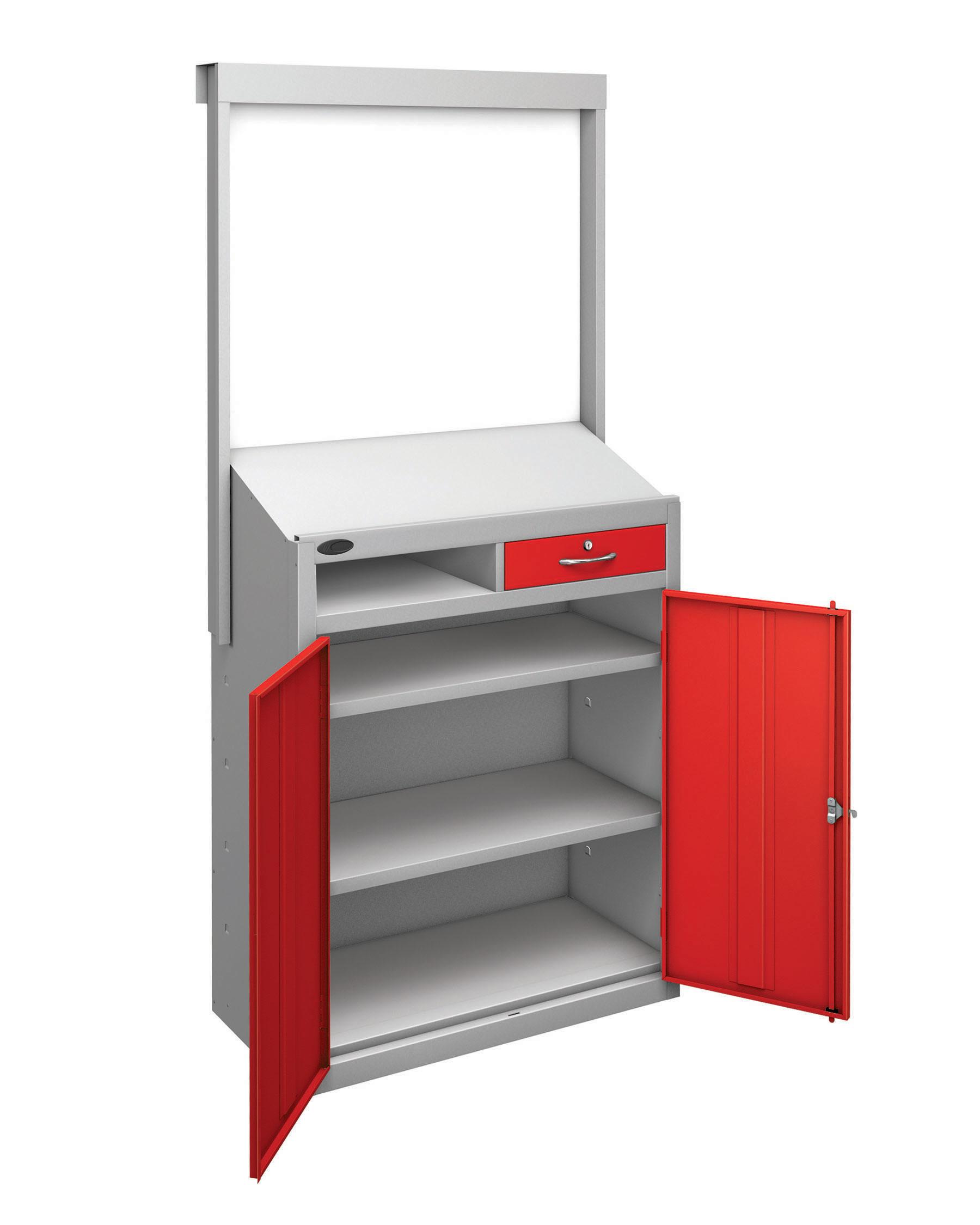 Probe workstation slope whiteboard red