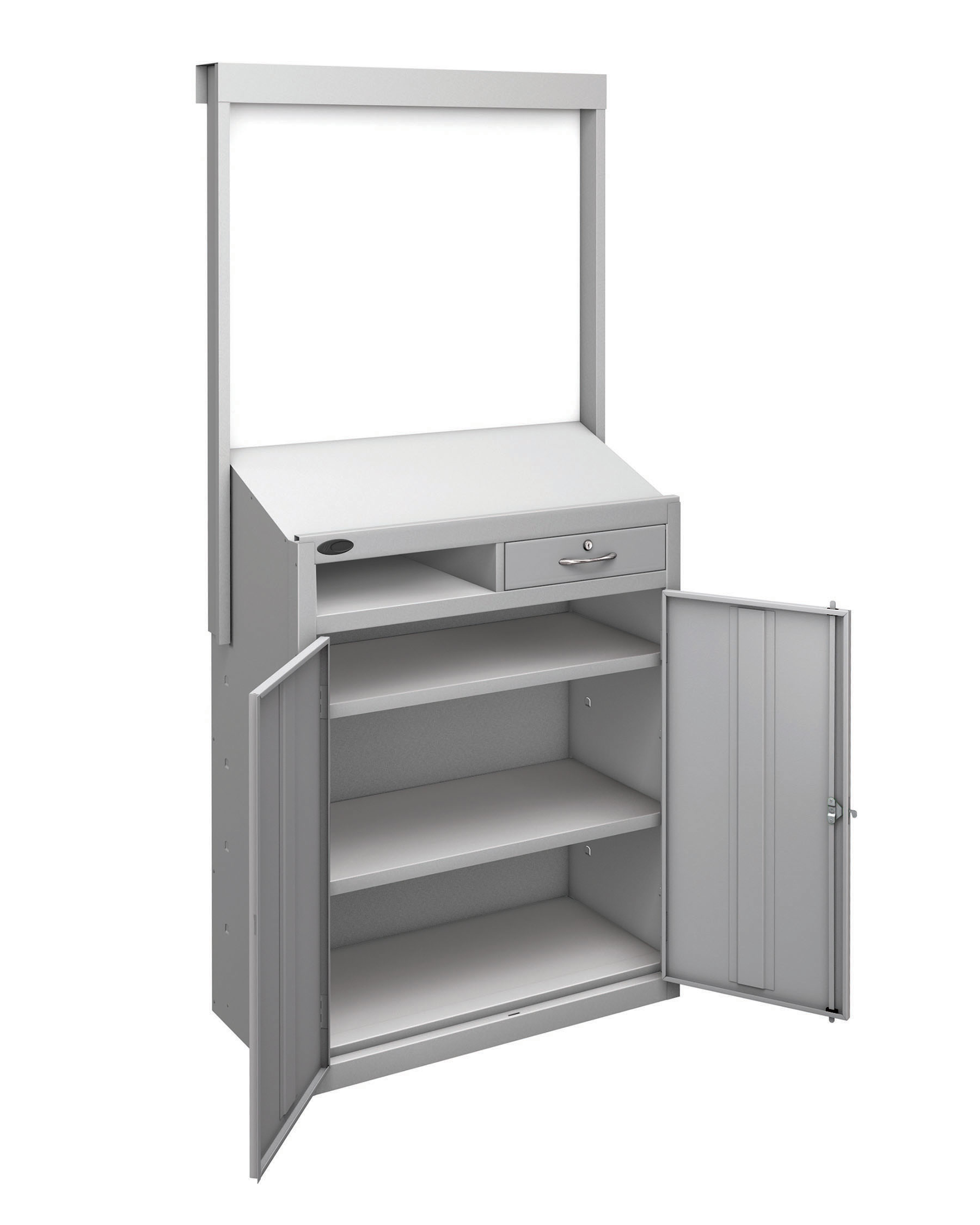 Probe workstation slope whiteboard silver