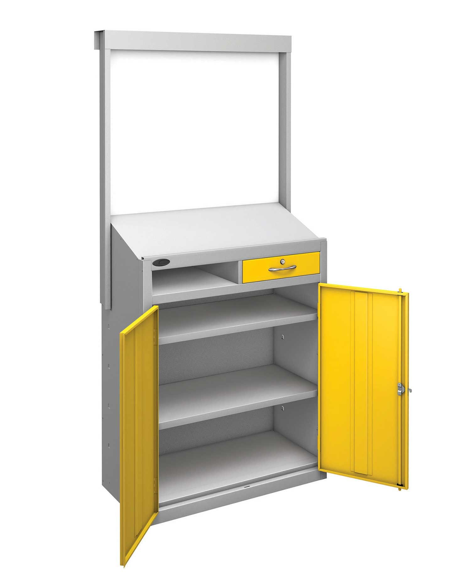Probe workstation slope whiteboard yellow