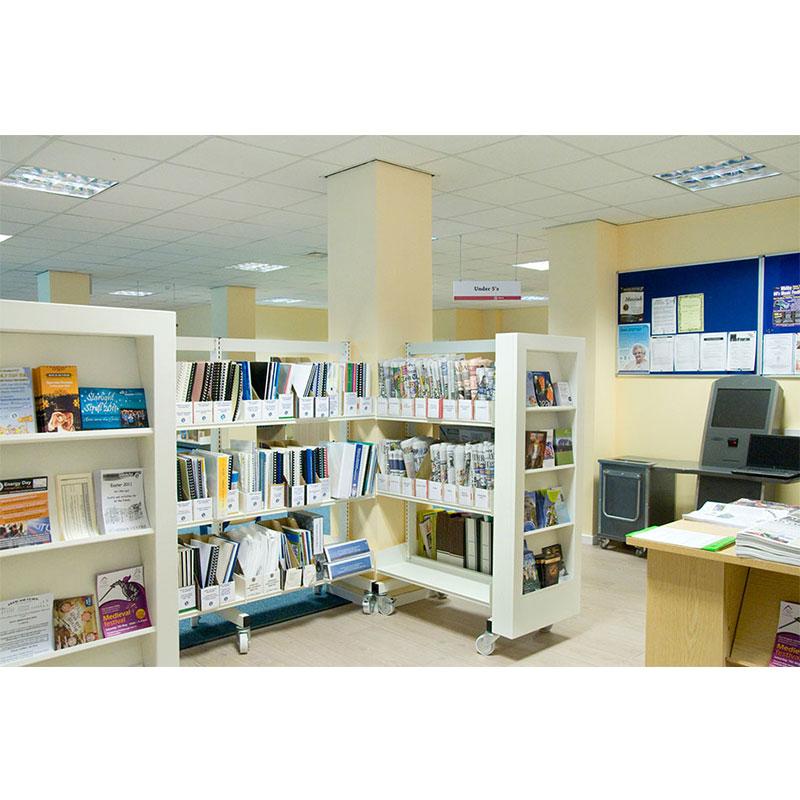 Probe technic library shelving for office