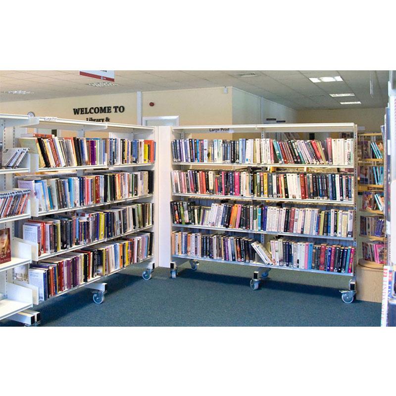 Probe technic library shelving for school
