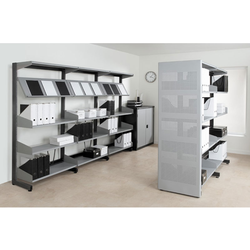 Probe technic library shelving grey and black panel
