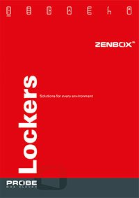Probe Zenbox Aluminium lockers 2018 Brochure